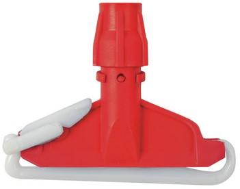 Mopklem kunststof zware uitvoering rood
