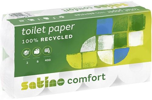 Satino Comfort toiletpapier 10x4rol 2-lgs wit Ecolabel/FSC