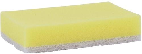 Schuurspons geel/wit groot 140x90x28 (10st.)