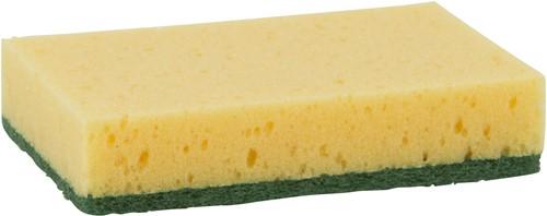 Schuurspons geel/groen klein 100x70x25 (10st.)