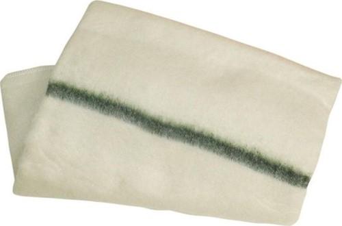 Dweil geweven groene streep 60x60cm