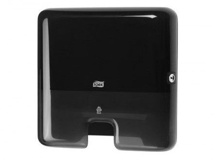 Tork Mini Singlefold/C-fold Handdoekdispenser Zwart (H3)