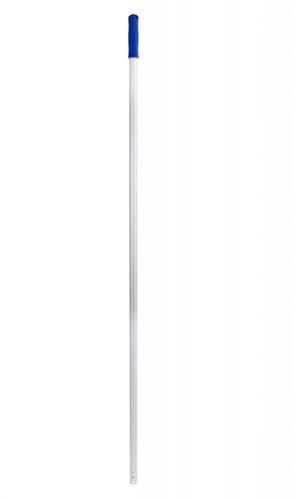 Steel aluminium blauwe greep 140cm met 3 gaatjes
