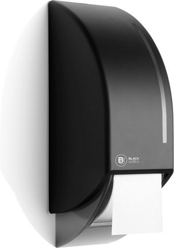 BlackSatino toiletroldispenser voor 2 systeemrollen zwart