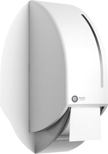 BlackSatino toiletroldispenser voor 2 systeemrollen wit