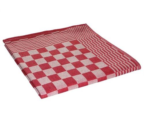 Theedoeken blok rood 70x70cm (10st.)