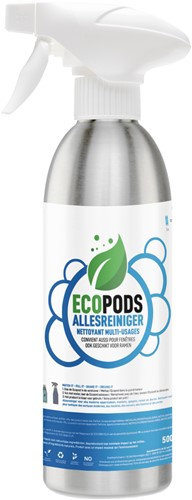 Ecopods aluminium sprayflacon allesreiniger 500ml