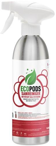 Ecopods aluminium sprayflacon sanitairreiniger 500ml