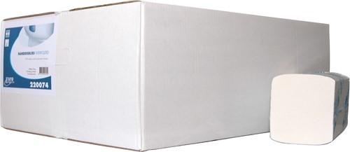 Euro Interfolded handdoekpapier cellulose wit 42x22cm 3-lgs