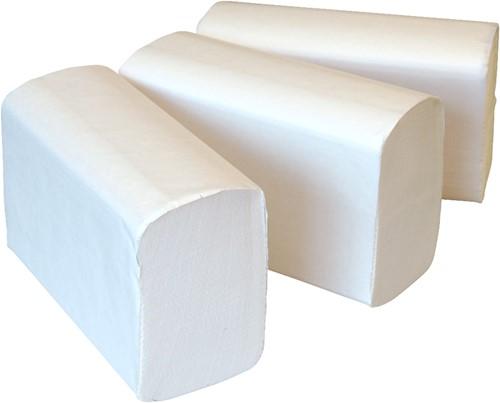 Euro Multifolded handdoekpapier 2-lgs wit 25x120 stuks 32x20.6cm