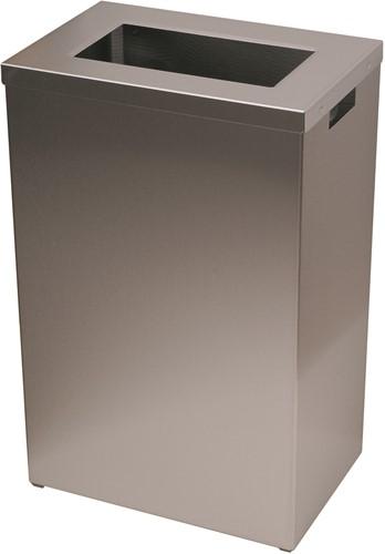 SanFer RVS afvalbak open inworp 22 liter