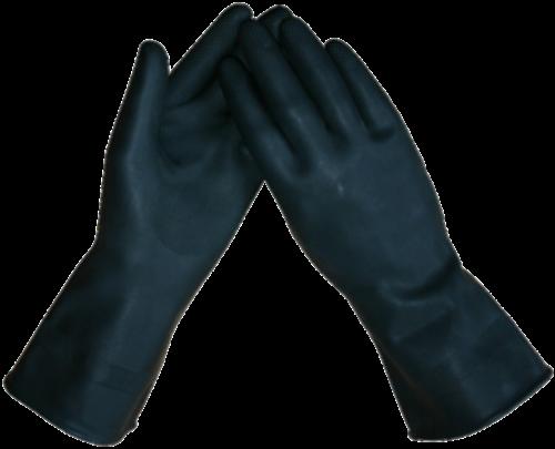 Marigold handschoen heavy duty black maat M