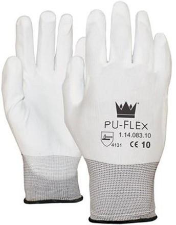 OXXA Handschoen PU-Flex, nylon drager, wit, maat 11
