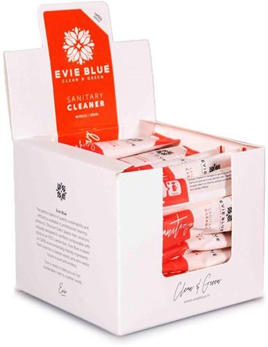 Evie Blue dagelijkse sanitairreinger 48st. t.b.v. sprayfles 500ml