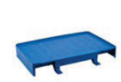 Filmop steun t.b.v. afvalzak (werkwagenuitbreiding) blauw