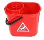Spaanse mopemmer kunststof rood 12L incl. korf