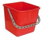 Mopemmer kunststof 25L rood