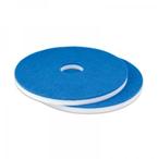 "Melamine pad blauw/wit 14"""""