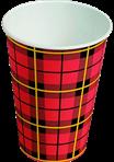 Drinkbeker Scotty karton Schotse ruit 180cc (2500st.)
