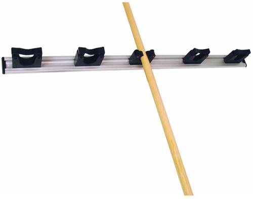 Toolflex wandstrip 90cm met klemmen zwart (5x 20/30mm)