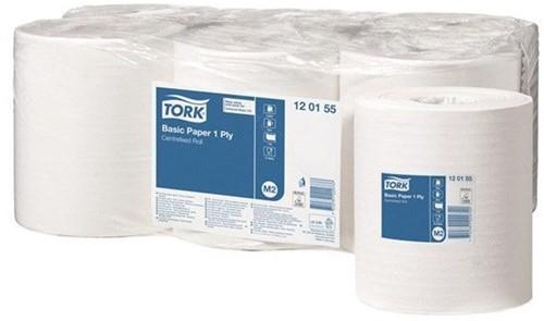 Tork Centerfeed Basic Midi-poetsrol 6x300Mtr Wit 1-lgs (M2)