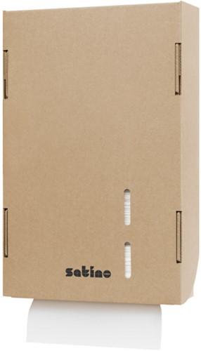 Satino Kartonnen Handdoekdispenser Interfold groot PT2-compatibel Z/W-vouw