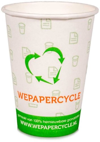 WePaperCycle koffiebekers 180cc (2500st.)